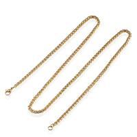Halskette, Edelstahl, plattiert, unisex & Weizen Kette, keine, 3mm, verkauft per ca. 24 ZollInch Strang