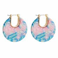comeon® Schmuck Ohrring, Acryl, Messing Hebel Rückseiten Ohrring Haken, plattiert, für Frau, keine, frei von Nickel, Blei & Kadmium, 26x30mm, verkauft von Paar