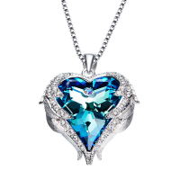 Messing Halskette, mit Kristall, mit Verlängerungskettchen von 1.97lnch, Herz, platiniert, Kastenkette & für Frau & mit Strass, keine, frei von Nickel, Blei & Kadmium, 22x25mm, verkauft per ca. 17.7 ZollInch Strang