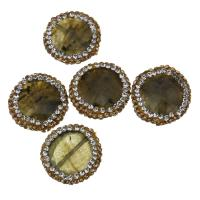 Labradorit Perlen, mit Ton, 18x5mm, Bohrung:ca. 0.5mm, 10PCs/Menge, verkauft von Menge