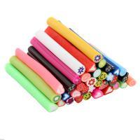 Polymer Ton Polymer Ton Stäbe, handgemacht, gemischt, 6x49mm, 100PCs/Tasche, verkauft von Tasche