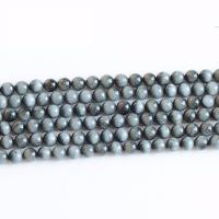 Beizvogelsauge Stein Perle, rund, natürlich, verschiedene Größen vorhanden, Bohrung:ca. 0.5-1mm, verkauft von Strang