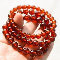 Natürlicher Granat -Armband, rund, verschiedene Größen vorhanden & für Frau, orange, verkauft per ca. 7.5 ZollInch Strang
