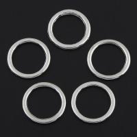 Zinklegierung Verbindungsring, Kreisring, Platinfarbe platiniert, frei von Nickel, Blei & Kadmium, 15x1mm, Bohrung:ca. 11mm, verkauft von PC