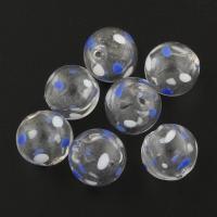 Handgewickelte Perlen, Lampwork, rund, 13x13mm, Bohrung:ca. 1mm, 100PCs/Tasche, verkauft von Tasche