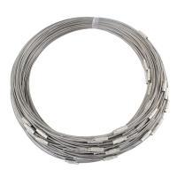 Eisen Halskette Schnur, Platinfarbe platiniert, frei von Nickel, Blei & Kadmium, 4x13mm, Länge:ca. 17.7 ZollInch, 100SträngeStrang/Tasche, verkauft von Tasche