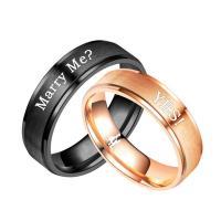 Edelstahl Paar- Ring, plattiert, verschiedene Größen vorhanden & verschiedene Stile für Wahl, 6mm, verkauft von PC