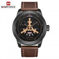 NAVIFORCE® Uhrenkollektion, PU Leder, mit Glas & Zinklegierung, plattiert, für den Menschen, keine, 46mm, Länge:ca. 10.2 ZollInch, verkauft von PC