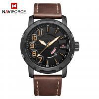NAVIFORCE® Uhrenkollektion, PU Leder, mit Glas & Zinklegierung, schwärzen, für den Menschen & glänzend, keine, Länge:ca. 10.2 ZollInch, verkauft von PC
