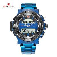 MIZUMS® Uhrenkollektion, Edelstahl, mit Glas & Zinklegierung, plattiert, Sternendesign & für Frau & mit Strass, keine, 50mm, Länge:ca. 9 ZollInch, verkauft von PC