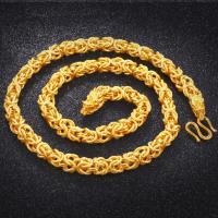 Messing Halskette, 24 K vergoldet, Laterne Kette & für den Menschen, frei von Nickel, Blei & Kadmium, 10mm, verkauft per ca. 23.6 ZollInch Strang