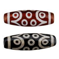 Natürliche Tibetan Achat Dzi Perlen, dreizehn -eyed, keine, 30x10x10mm, Bohrung:ca. 2.5mm, 5PCs/Menge, verkauft von Menge