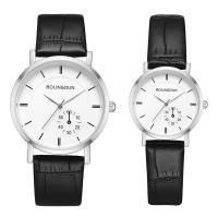 Ehepaar Uhrenarmbänder, Zinklegierung, mit PU Leder & Glas, plattiert, unisex & verschiedene Größen vorhanden, keine, frei von Nickel, Blei & Kadmium, Länge:ca. 8 ZollInch, ca. 9 ZollInch, verkauft von PC
