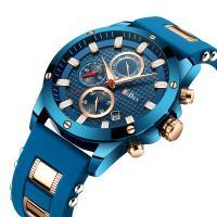 BIDEN® Uhrenkollektion, Edelstahl, mit Glas & Zinklegierung, plattiert, für den Menschen, 46mm, Länge:ca. 9.6 ZollInch, verkauft von PC