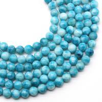 Larimar Perle, poliert, DIY & verschiedene Größen vorhanden, Bohrung:ca. 1mm, verkauft von Strang