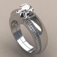 Zinklegierung Paar- Ring, silberfarben plattiert, unisex & verschiedene Größen vorhanden & mit Strass, frei von Nickel, Blei & Kadmium, Bohrung:ca. 5mm, verkauft von Paar