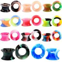Silikon Piercing Durchstich, unisex & verschiedene Größen vorhanden, gemischte Farben, 11PaarePärchen/Menge, verkauft von Menge