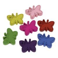 Holzperlen, Holz, Schmetterling, Einbrennlack, 22x17mm, Bohrung:ca. 2mm, 500PCs/Tasche, verkauft von Tasche