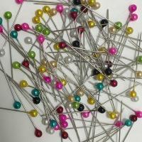 Kunststoff Ball Head Pin, mit Edelstahl, verschiedene Größen vorhanden, gemischte Farben, 10000PCs/Menge, verkauft von Menge