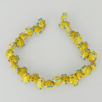 Tier Lampwork Perlen, Fisch, 16.50x20x10mm, Bohrung:ca. 2.5mm, ca. 30PCs/Strang, verkauft per ca. 13.5 ZollInch Strang