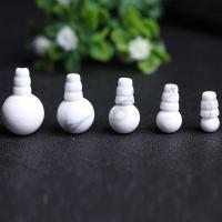 Magnesit Perle, poliert, verschiedene Größen vorhanden, Bohrung:ca. 1mm, 2PCs/setzen, verkauft von setzen