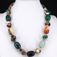 Edelstein Schmuck Halskette, poliert, unisex, farbenfroh, 15x21mm,5x9mm, verkauft per ca. 19.69 ZollInch Strang