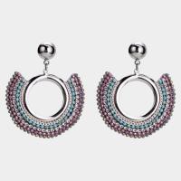 925 Sterling Silber Tropfen Ohrring, Edelstahl Stecker, Kreisring, plattiert, für Frau, keine, 4.5mm,3.5mm, verkauft von Paar