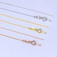 925 Sterling Silber Halskette Kette, Messing, plattiert, unterschiedliche Länge der Wahl & Kastenkette, keine, frei von Nickel, Blei & Kadmium, verkauft von Strang