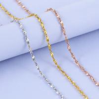 925 Sterling Silber Halskette Kette, 925er Sterling Silber, plattiert, unterschiedliche Länge der Wahl, keine, 0.8-1.2mm, verkauft von Strang