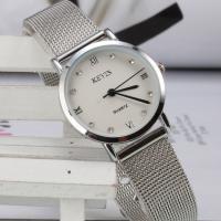 Ehepaar Uhrenarmbänder, Edelstahl, mit Zinklegierung Zifferblatt & Glas, silberfarben plattiert, verschiedene Größen vorhanden & verschiedene Stile für Wahl & für paar, frei von Nickel, Blei & Kadmium, 205x25x8mm, Länge:ca. 8 ZollInch, verkauft von PC