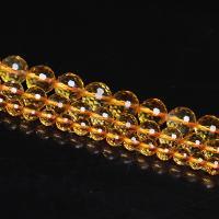 Gelbquarz Perlen Perle, poliert, verschiedene Größen vorhanden & verschiedene Stile für Wahl, Bohrung:ca. 1mm, verkauft von Strang