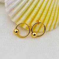 Messing Leverback Ohrring, plattiert, Koreanischen Stil & unisex, keine, frei von Nickel, Blei & Kadmium, 13mm, 50PCs/Tasche, verkauft von Tasche