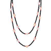 Kristall Zinklegierung Halskette, mit Natürlicher Quarz, mit Verlängerungskettchen von 6cm, plattiert, für Frau & Multi-Strang, keine, frei von Nickel, Blei & Kadmium, verkauft per ca. 17.33 ZollInch Strang