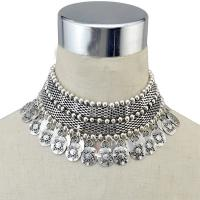 Mode Statement Halskette, Zinklegierung, mit Verlängerungskettchen von 5inch, plattiert, mehrschichtig & für Frau, frei von Nickel, Blei & Kadmium, 50x85mm, verkauft per ca. 13 ZollInch Strang