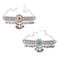 Mode Statement Halskette, Zinklegierung, mit Türkis, mit Verlängerungskettchen von 2inch, plattiert, mehrschichtig & für Frau, frei von Nickel, Blei & Kadmium, verkauft per ca. 22 ZollInch Strang
