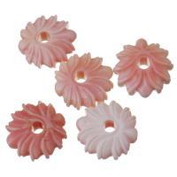 Achat Perlen, Rosa Muschel, Blume, Rosa, 10x16x6mm, Bohrung:ca. 3mm, verkauft von PC