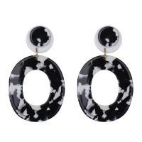 Harz Tropfen Ohrring, Kreisring, für Frau, keine, 70*40mm, verkauft von Paar