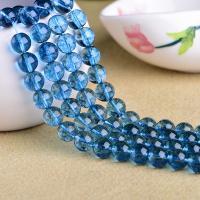 Blauer Quarz Perle, natürlich, DIY & verschiedene Größen vorhanden, blau, verkauft von Strang