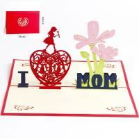 Papier 3D Grußkarte, handgemacht, hohl, farbenfroh, 100x150mm, verkauft von PC
