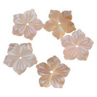 Achat Perlen, Rosa Muschel, Blume, Rosa, 15x14x2mm, Bohrung:ca. 1mm, verkauft von PC