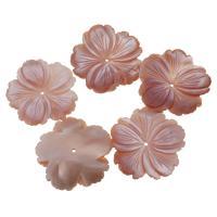 Achat Perlen, Rosa Muschel, Blume, Rosa, 30x29x4mm, Bohrung:ca. 1mm, verkauft von PC