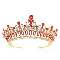 Krone, Zinklegierung, plattiert, für Braut & mit Strass, keine, frei von Nickel, Blei & Kadmium, 145*75mm, verkauft von PC