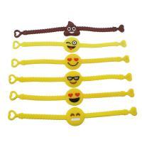 Silikon Armband, für Kinder & gemischt, 19cm, Länge:ca. 7.5 ZollInch, 6SträngeStrang/Menge, verkauft von Menge