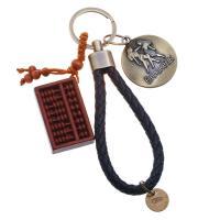 PU Leder Schlüsselanhänger, mit Zinklegierung, antike Bronzefarbe plattiert, Konstellation Schmuck & verschiedene Stile für Wahl, frei von Nickel, Blei & Kadmium, 130mm, verkauft von Strang