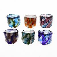 Lampwork Fingerring, unisex, gemischte Farben, 26x25mm, Größe:10.5, 12PCs/Box, verkauft von Box