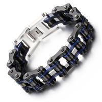 Titanstahl Armband, plattiert, unisex & verschiedene Stile für Wahl, keine, 220*16mm, verkauft per ca. 8.6 ZollInch Strang
