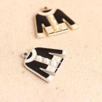 Bekleidung Zinklegierung Anhänger, plattiert, Emaille, keine, frei von Nickel, Blei & Kadmium, 24*27mm, ca. 10PCs/Tasche, verkauft von Tasche