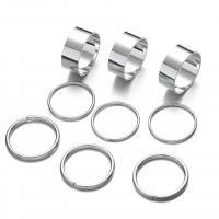 Zink-Legierungsring-Set, Zinklegierung, plattiert, unisex, keine, frei von Nickel, Blei & Kadmium, 7mm,7.5mm,8mm, verkauft von PC