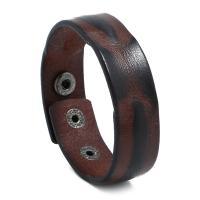 Kunstleder Armband, mit Zinklegierung, Zinklegierung Druckknopf Verschluss, für den Menschen, keine, 23x237mm, 10SträngeStrang/Menge, verkauft von Menge