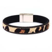 PU Schnur Armbänder, PU Leder, mit Pferdehaar & Zinklegierung, plattiert, für Frau, keine, 195x10mm, verkauft von PC